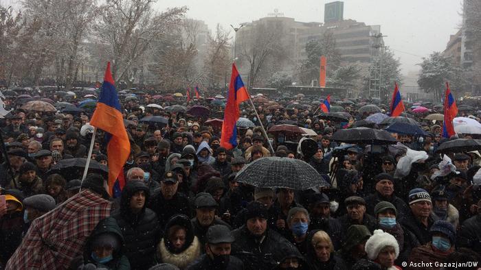 Акция протеста против правительства в Ереване, 20 февраля 2021 года
