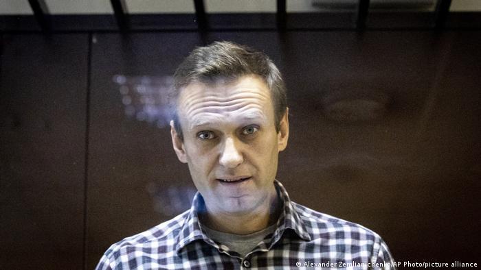 Alexei Navalny, durante una vista ante el juez el 20 de febrero.