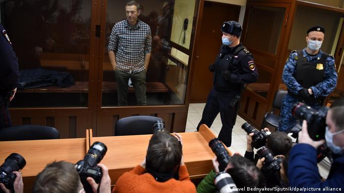 Russland | Moskau | Russischer Oppositionspolitiker Alexej Nawalny vor Gericht