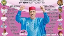 Niger Wahlplakat Mahamadou Issoufou und Mohamed Bazoum