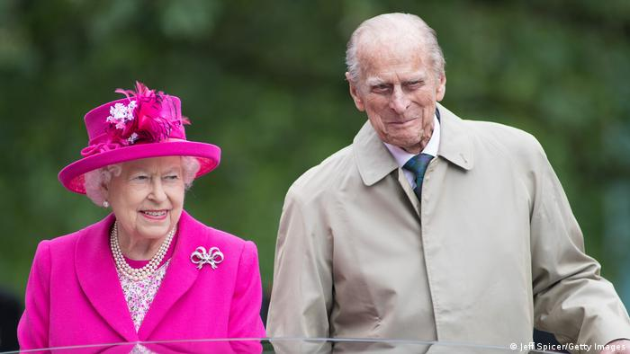 Queen Elizabeth II and Prince Philip, Duke of Edinburgh during celebrations for The Queen's 90th birthday at The Mall on June 12, 2016