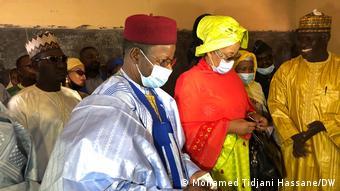 Mahamane Ousmane a voté dans son fief de Zinder, dans le sud-est