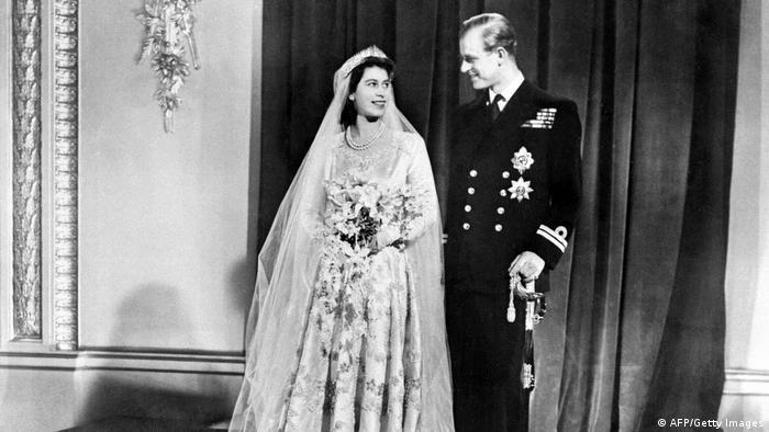 Hochzeitspaar Elisabeth und Philip (20.11.1947)