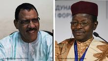 Bildkombo I Wahlen Niger I Mohamed Bazoum und Mahamane Ousmane
