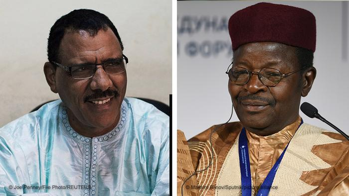 A combination picture of incoming Niger President Mohamed Bazoum and former President Mahamane Ousmane