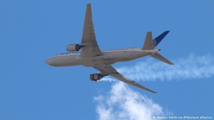 Boeing 777 с пострадавшим двигателем Pratt & Whitney PW4000