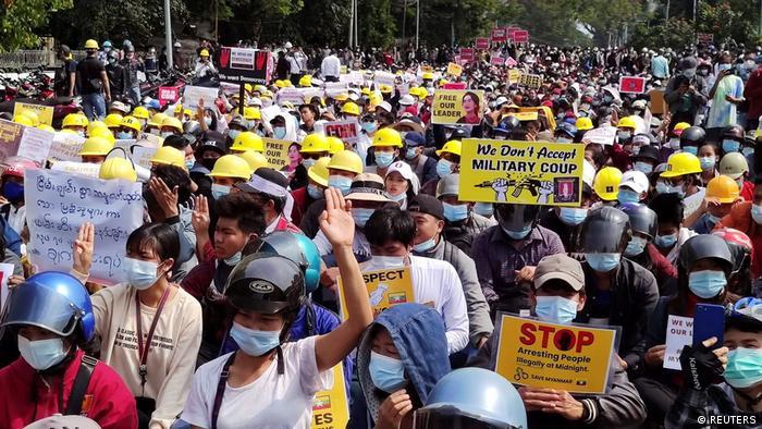 Myanmar Myitkyina |nach Militärputsch | Protest