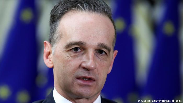 Belgien Brüssel | Heiko Maas im Gespräch mit Pressevertretern