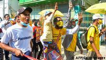 Myanmar Naypyidaw |nach Militärputsch | Protest