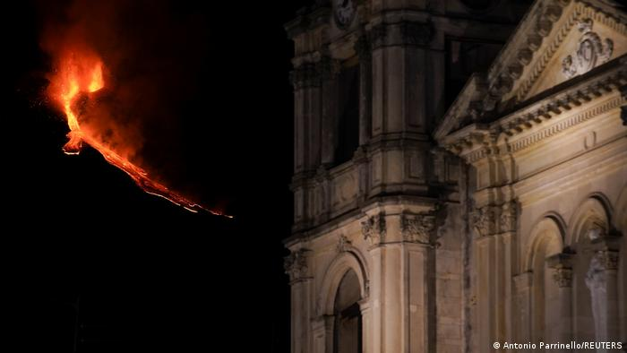 Imagen de la erupción del 21 de febrero.