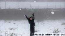 Naher Osten | seltener Schneefall |Westjordanland