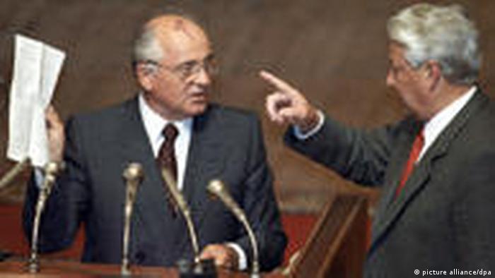 Jelzin fordert Gorbatschow heraus