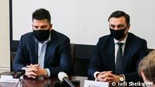Brüssel Leiter der russischen Stiftung für Korruptionsbekämpfung FBK Leonid Volkov und Ivan Zhdanov