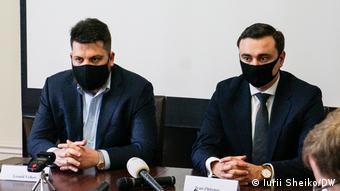 Леонид Волков и Иван Жданов в Брюсселе (февраль 2021 года)