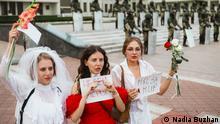 Женские протесты в Беларуси. Снимок Надежды Бужан
