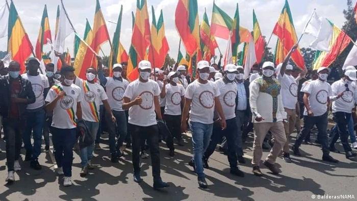Election campaign in Addis Abeba, Ethiopia