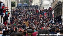 lمشهد من المظاهرات في العاصمة الجزائرية في الذكى الثانية للحراك (22 فبراير/ شباط 2021)