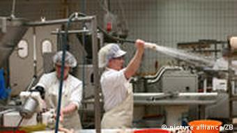 Employees at work at Halberstadter sausages