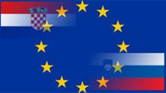Symbolbild: Sloweinien, Kroatien und EU (DW Grafik)