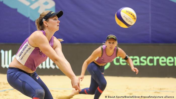 German beach volleyball stars Karla Borger and Julia Sude