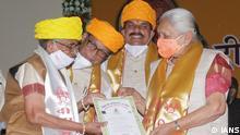 Indien Shashikala Rawal, PhD in Sanskrit mit 80 Jahren