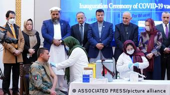 Afghanistan Beginn der Impfung gegen Covid-19