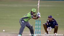 Cricket Lahore Qalandars gegen Quetta Gladiators in Pakistan