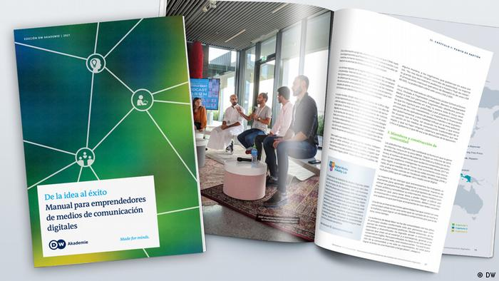 DW Akademie Mock-up Media Viability From Start to Success Spanisch Spanish
