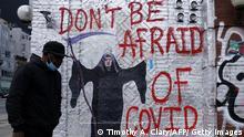 USA | 500.000 Covid-19-Todesopfer | Trump-Graffiti