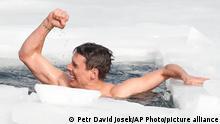 David Vencl, Freitaucher (Tschechien)   Weltrekord im Schwimmen unter Eis