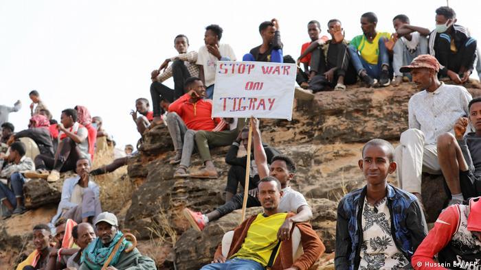 Sudan Äthiopische Flüchtlinge Tigray Um Raquba
