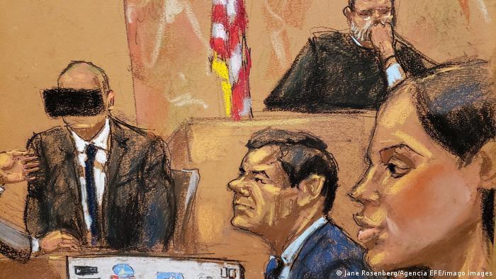 Gerichtsskizze New York Emma Coronel (R) Ehefrau von El Chapo Guzman