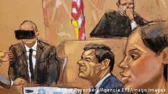 El juicio en Nueva York lastimó la relación entre Emma Coronel (der.) y el Chapo Guzmán (archivo)