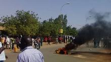 Niger Protest gegen Ergebnis der Präsidentschaftswahl