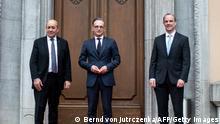 Außenminister von Deutschland, Frankreich und Großbritannien | Heiko Maas, Jean-Yves Le Drian und Dominic Raab
