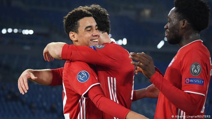 Champions League Lazio Rom gegen Bayern München   Tor Musiala
