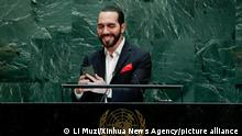 USA I UN I El Salvador Präsident Nayib Bukele