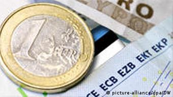 The euro and the Estonian kroon