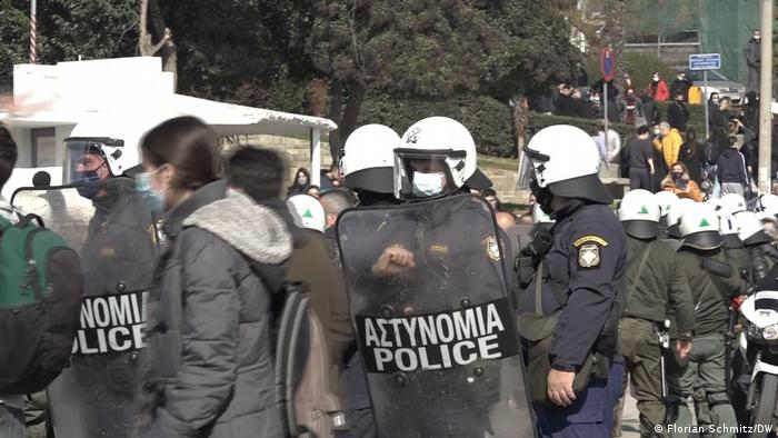 Police on Greek campuses