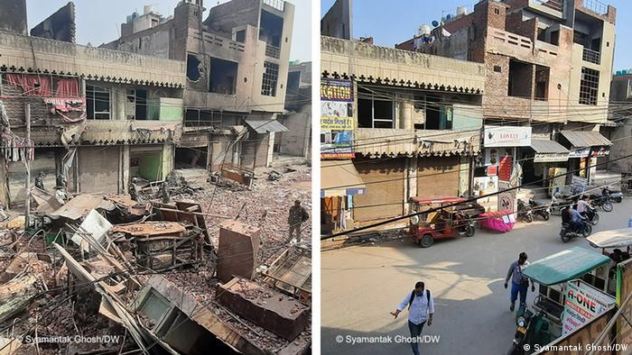 Indien Neu Delhi Unruhen Jahrestag