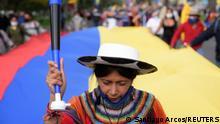 Weltspiegel 24.02.2021 | Ecuador | Unterstützerin des Präsidentschaftskandidaten Yaku Perez