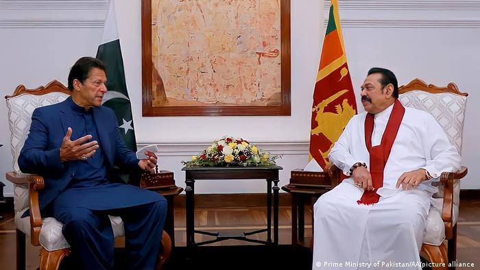 Sri Lanka Besuch der pakistanischen Premierminister Imran Khan in Kolombo
