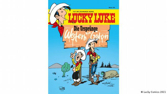 Portada del la 100 edición de Lucky Luke