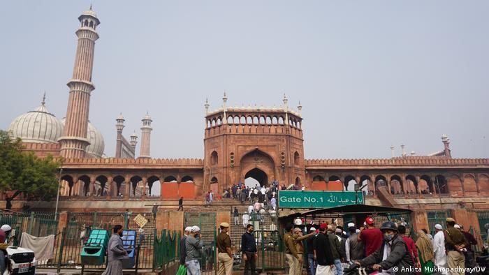 The Jama Masjid mosque in Old Delhi
