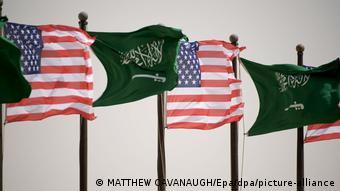 US und Saudi Flaggen