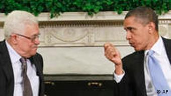 Palästinenser Präsident Mahmoud Abbas zu Besuch bei Barack Obama in Washington