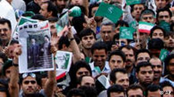 Supporters of Mir Hossein Mousavi AP Photo/Hasan Sarbakhshian