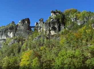 Montanhas esculpidas pela natureza