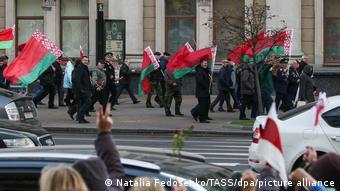 Встреча сторонников и противников Лукашенко, октябрь 2020 года