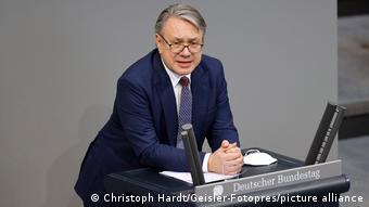 Депутат бундестага от партии Христианско-социальный союз (ХСС) Георг Нюсляйн, обвиняемый в коррупции при госзакупках защитных масок
